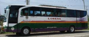 Bisa Lorena Parkir di salah satu ruas jalan Bandar Lampung