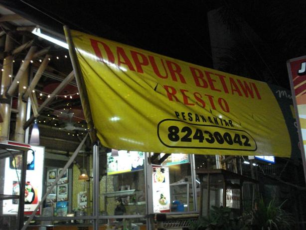 Nomor tilpun dapur betawi di Jalan Raya JatiaAsih
