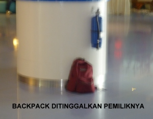 Backpack left unattended at Vivo East Coast 3 March 2012